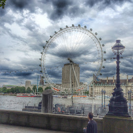 London Eye 2 by Nachau Kirwan - City,  Street & Park  City Parks ( london eye, thames, london, waterscape, fun, cityscape, people )