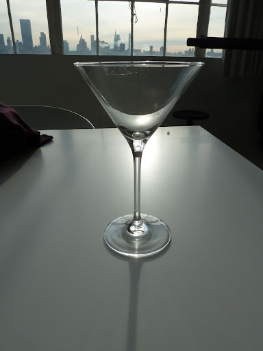 Michael C. Fina's set of eight martini glasses.