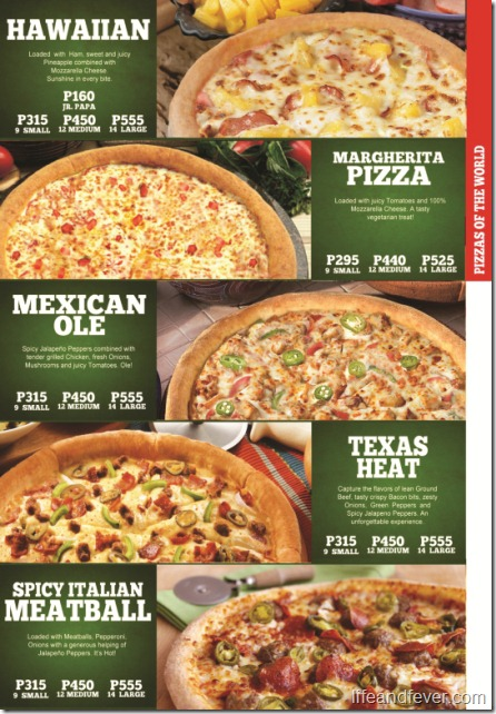 papa john's pizzas of the world