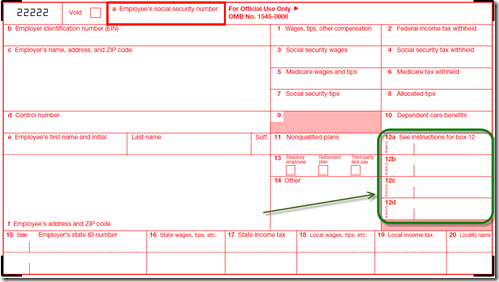 Dynamics Confessions Blogspot: W-2 Other Codes for Box 12