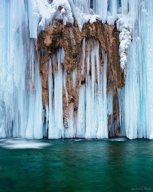 Plitvice - Frozen Falls, Croatia