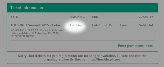 sold out tickets
