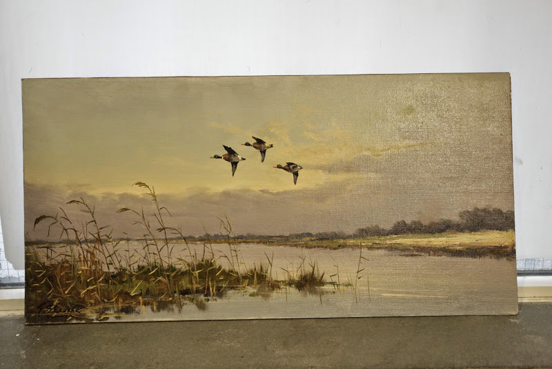 Unframed Nature Painting with Signature