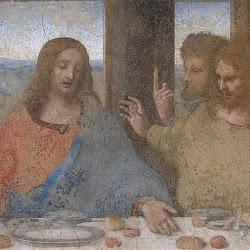 Detalle Leonardo da Vinci (1495-1498): La última cena. Santa Maria delle Grazie