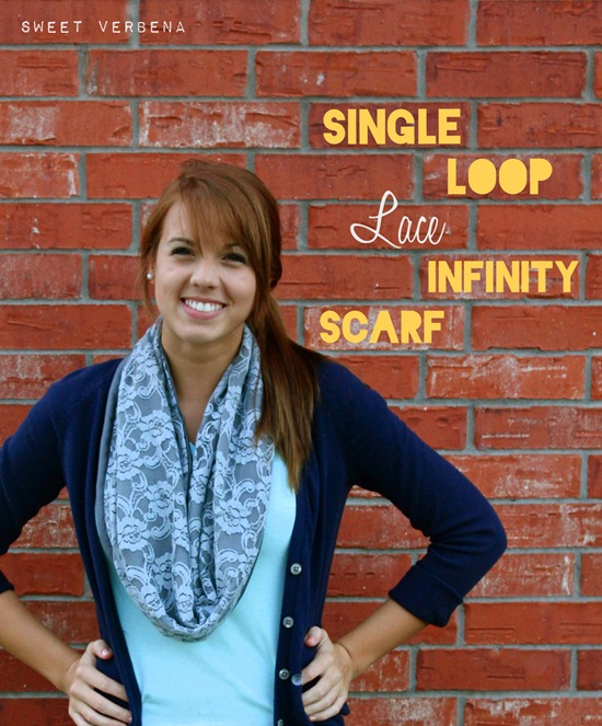 DIY infinity scarf