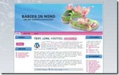 עיצוב לאתר וורדפרס בתחום תינוקות - כחול/ורוד