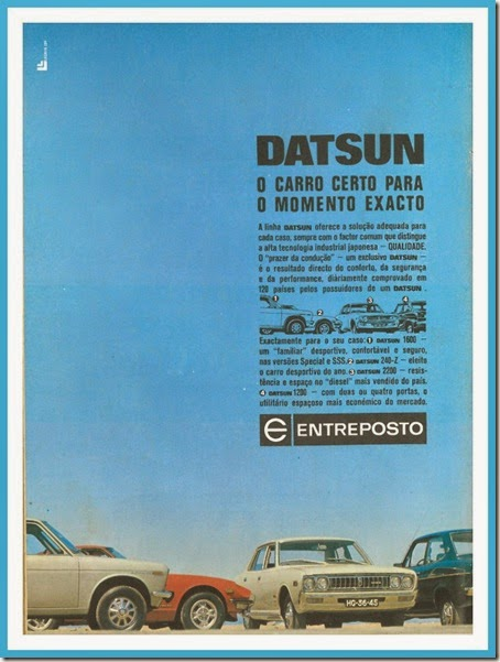 datsun publicidade vintage