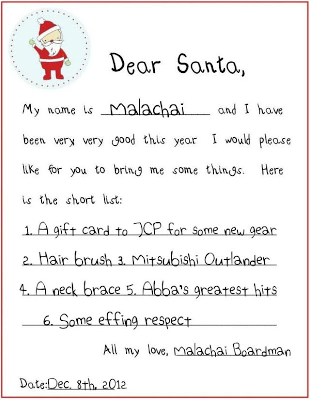 Dear Santa - Malachai Children of the Corn