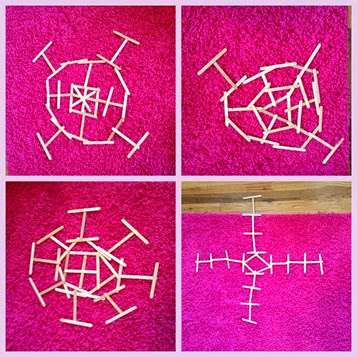 Popsicle stick snowflake shapes @ whatilivefor.net