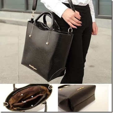 U1303 Black (210.000) - PU Leather, 36 x 28 x 15