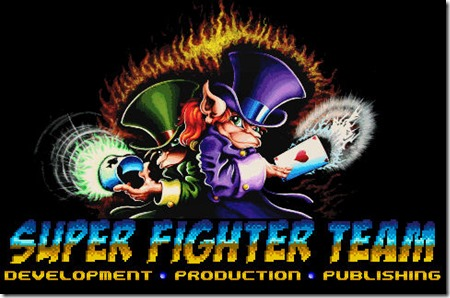 Logo Super Fighter Team e il loro bellissimo Nightmare Busters