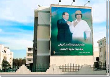 Manifesti giganti per le vie di Tripoli.