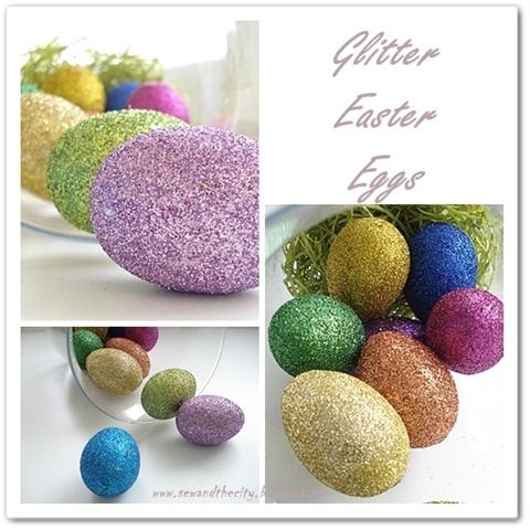 glitter easte eggs