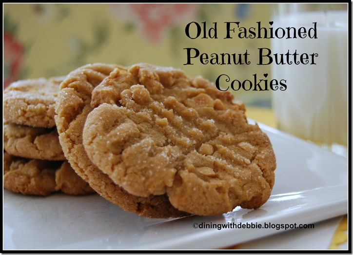 Old Fashioned Peanut Butter Cookies Dining With Debbie