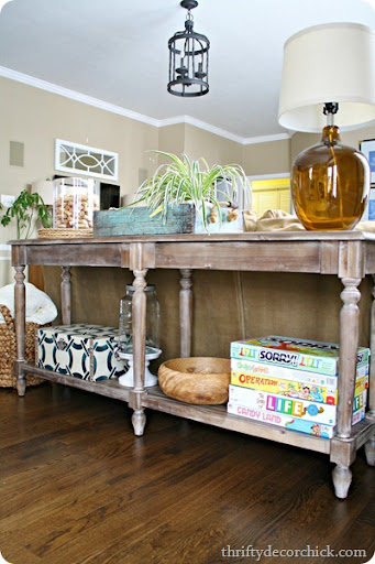... Pottery Barn Sofa Table Splurges From Thrifty Decor Chick Rustic Long Sofa  Table Watchthetrailerfo ...