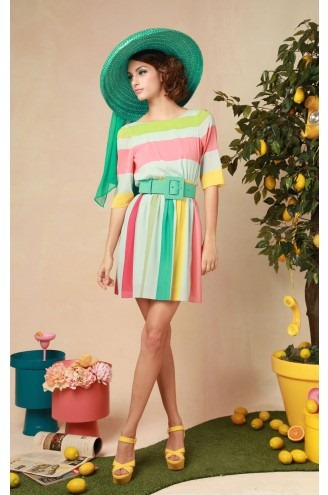 Anita Stripe Dress - Alice and Olivia by Stacey Bendet