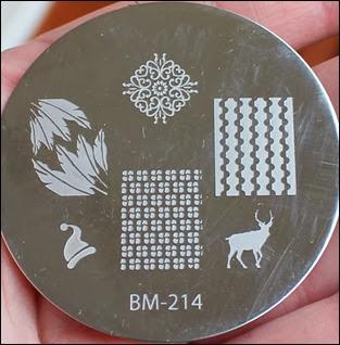 Stamping Schablone Plate BM-214