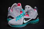 nike lebron 9 ps elite grey candy pink 8 05 LeBron 9 P.S. Elite Miami Vice Official Images & Release Date