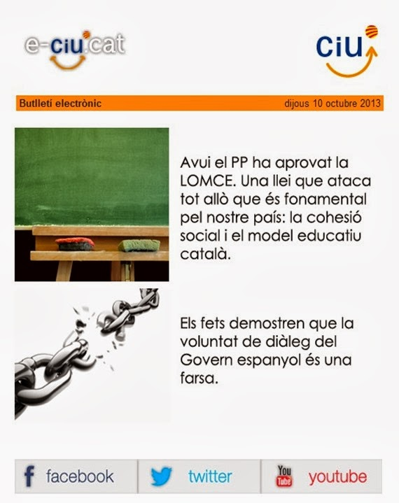 CiU messatge contra Madrid