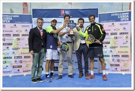 Martín Díaz-Belasteguín Campeones en el WPT Estrella Damm Lisboa Open 2014.