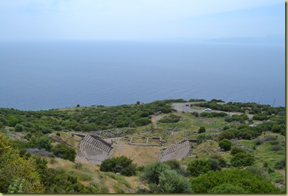 Assos theatre and sea beyond