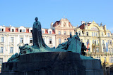 The Jan Hus Memorial in Old Town Square