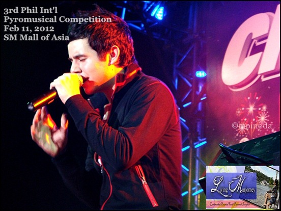 David Archuleta at the 3rd Phil Int'l Pyromusical Competition