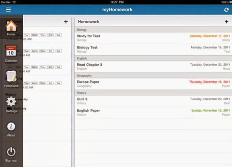 myHomework-aplicación para estudiantes universitarios