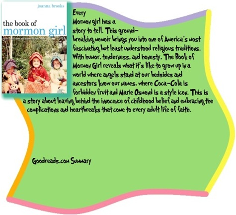 Goodreads summary box The Book of Mormon Girl