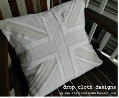Union Jack Drop Cloth Pillow 2