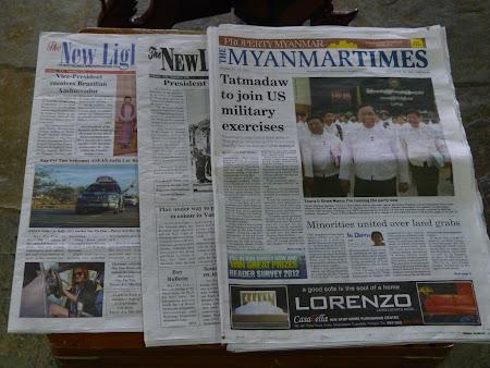 Presa Birmania: ziare din Myanmar - in engleza