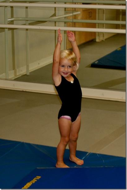 Cori arms up