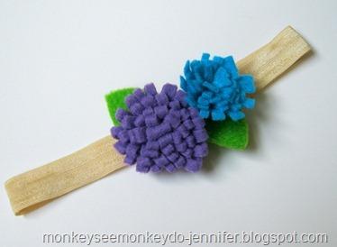 purple and blue headband