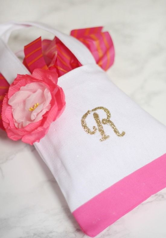 diy monogrammed tote perfect party favor a thoughtful place