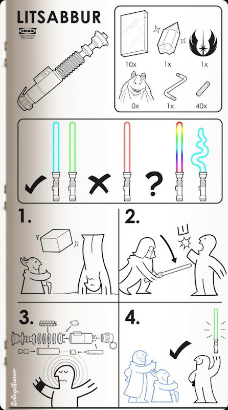 ikea how to make a real lightsaber