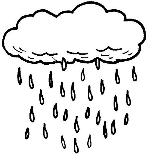 Nubes de lluvia dibujos para colorear - Imagenes de nubes infantiles ...