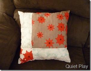 Back of Cardinal cushion