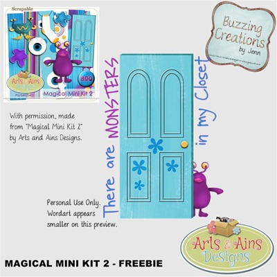 AAD - Magical Mini - Wordart Freebie Preview