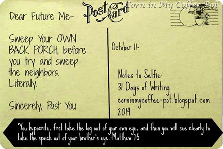 October 11 post card