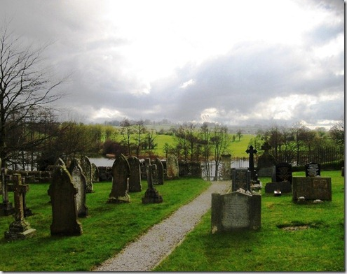graves overlooking the mere