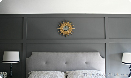 gray paneled wall