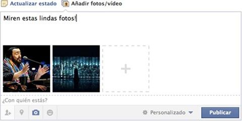 Añadir una foto en Facebook