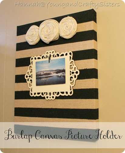 Burlap canvas picture holder 8