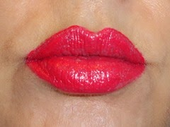 wearing L'Oreal Infallible Pro-Last Lipcolor in Captive by Cerise