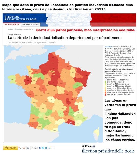 zònas de la desindustrializacion francesa Occitània