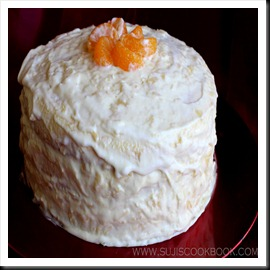 Orange surprise cake