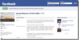 Thumbnail of Daniel Shipman Facebook page