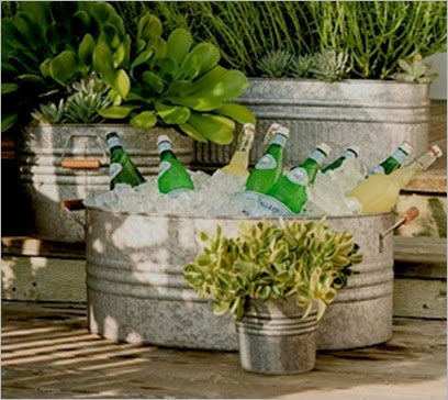 eclectic galvanized metal planters pottery barn_thumb
