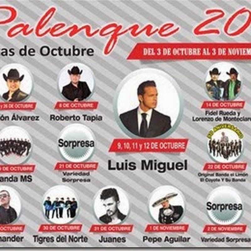 Palenque Fiestas de Octubre 2014 en GDL: Cartelera Fechas Boletos