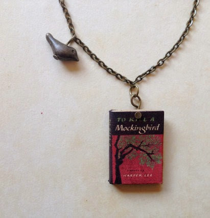 To Kill a Mockingbird Necklace from Miniature Literature